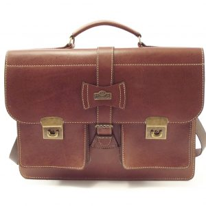 School Medium HP101 - genuine leather laptop bag by Der Lederhandler