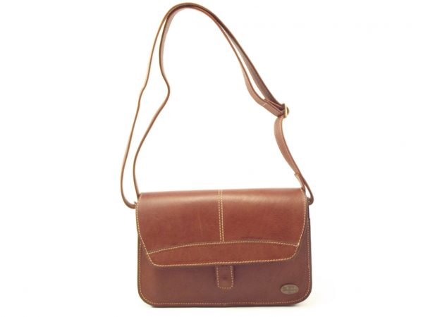 Sharon HP7218 - elegant medium leather crossbody handbag by Der Lederhandler