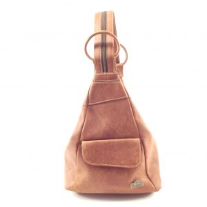 Stefnie HP7075 - genuine leather backpack sling bag by Der Lederhandler
