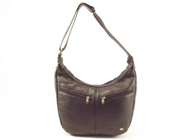 Stella Two HP7217 - single sling bucket hobo leather shoulder handbag by Der Lederhandler