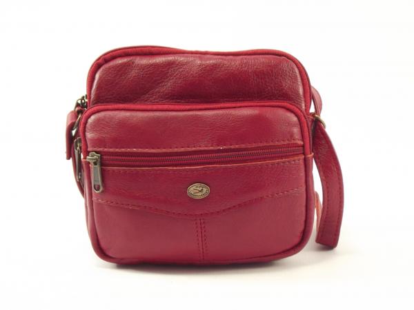 Tersia HP7164 - petite leather organizer crossbody handbag by Der Lederhandler