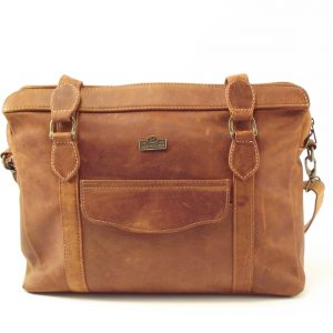 Town Sling Three HP7271 - women leather laptop bag by Der Lederhandler