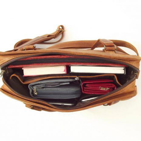Town Sling Three HP7271 - women leather laptop bag by Der Lederhandler