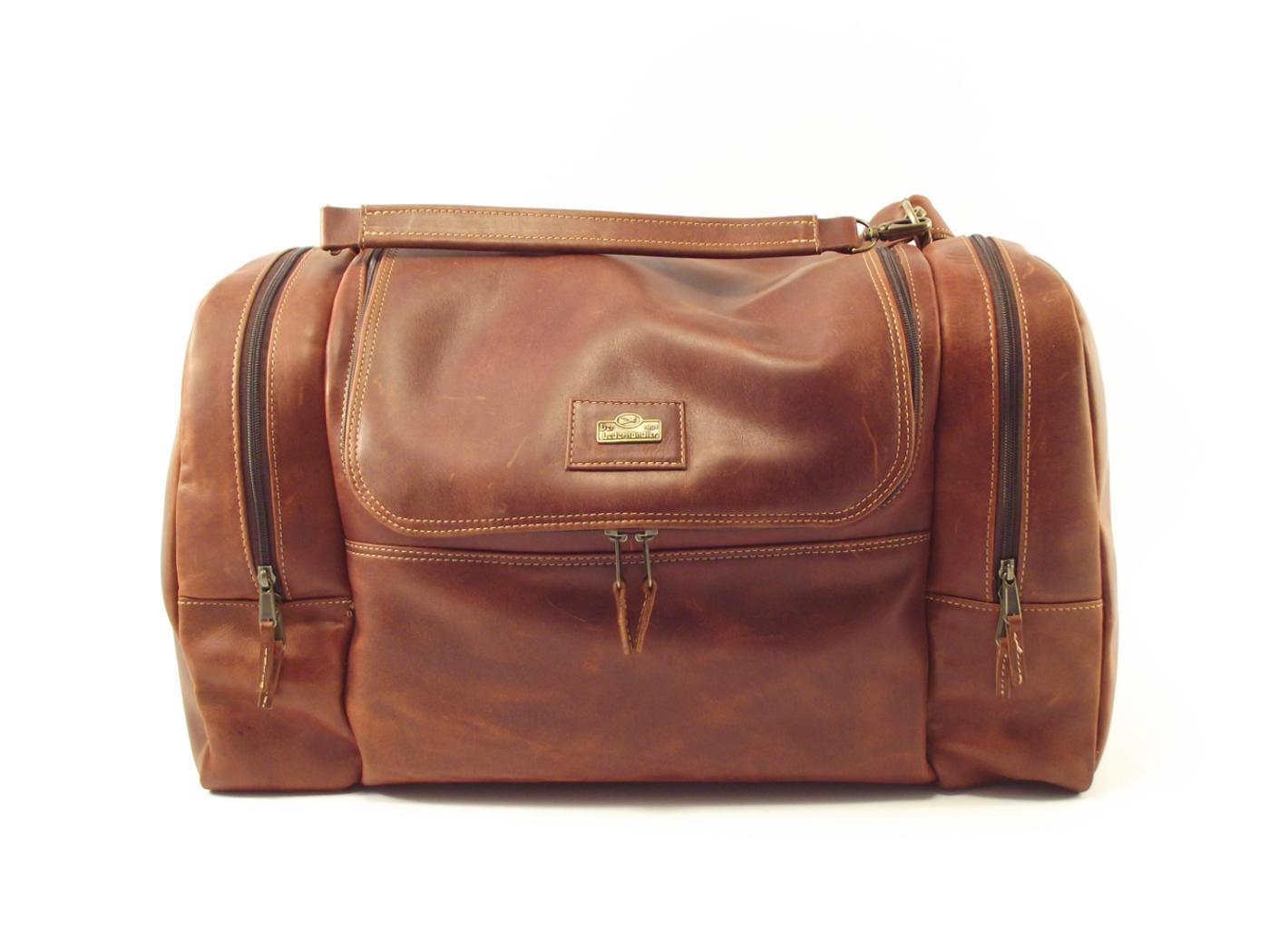 6e015813940 Travel Escape HP7270 - leather duffle bag men by Der Lederhandler