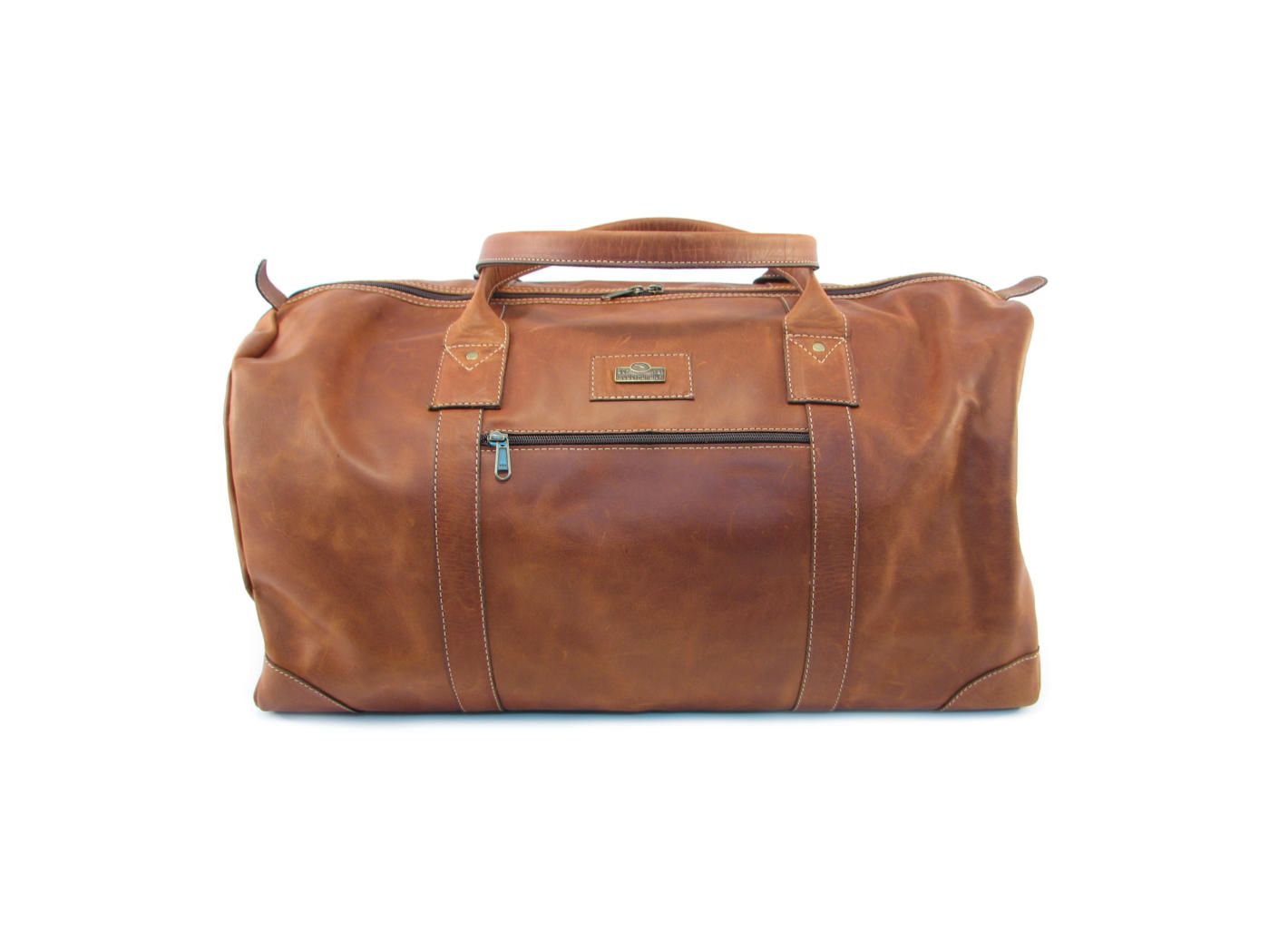 Vintage  leather travel bag - full-grain leather  3efd0cc8b76ab