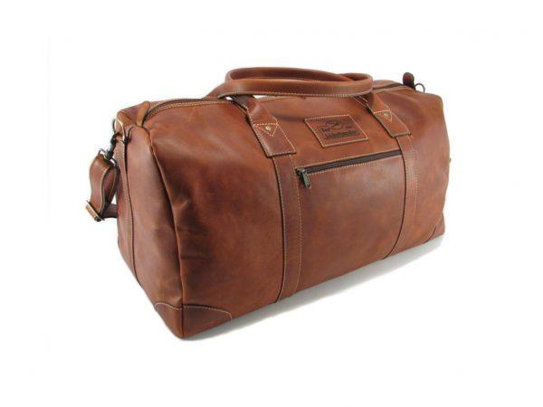 Travel Outdoor HP7285 side leather travel bags, Der Lederhandler, George, Western Cape