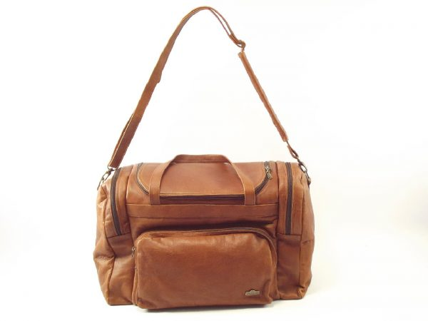 Travellers Small HP195P - women and men's leather travel bag by Der Lederhandler