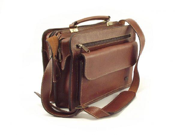 Universal Ladies HP103 - leather briefcase crossbody handbag women by Der Lederhandler