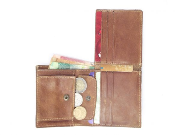 Wallet Men's Two HPMW02NTST - genuine leather credit card holder by Der Lederhandler