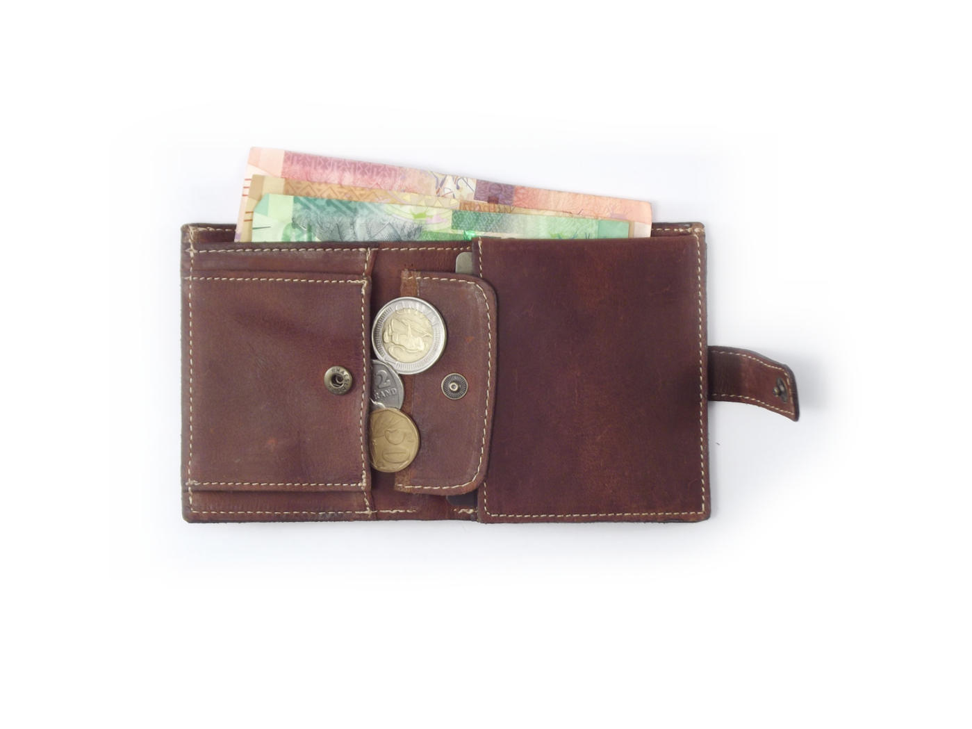 Genuine leather business card wallet for men