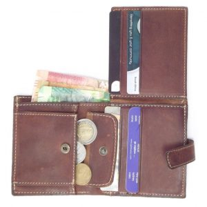 Wallet Men's Two HPMW02WTST - genuine leather business card holder by Der Lederhandler