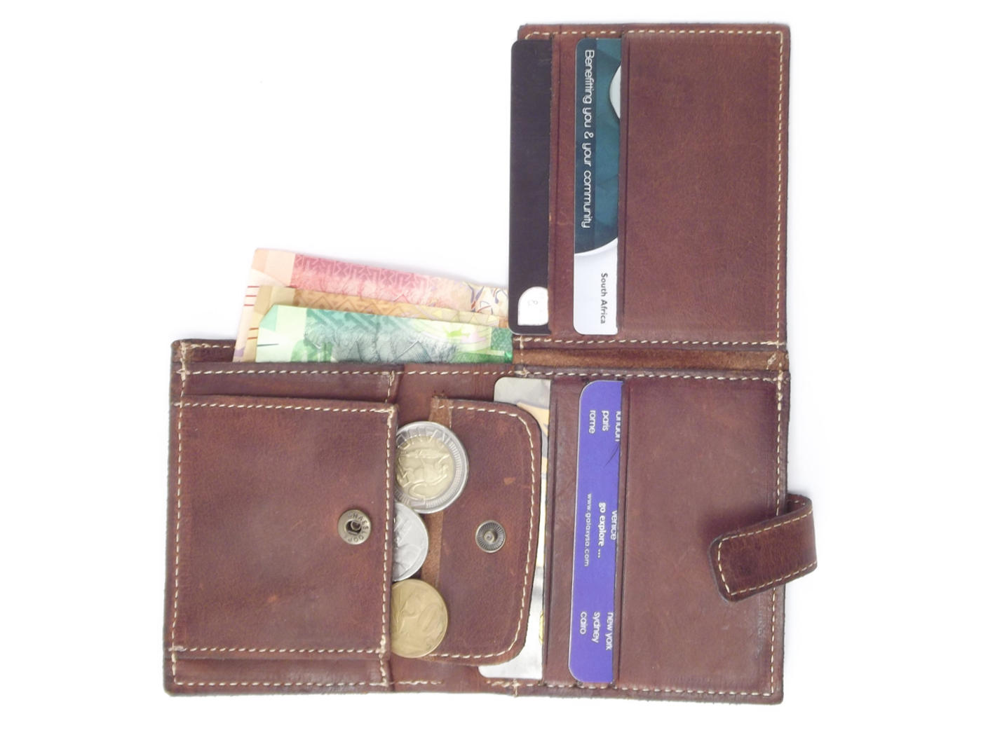 Genuine leather business card wallet for men | Der Lederhandler