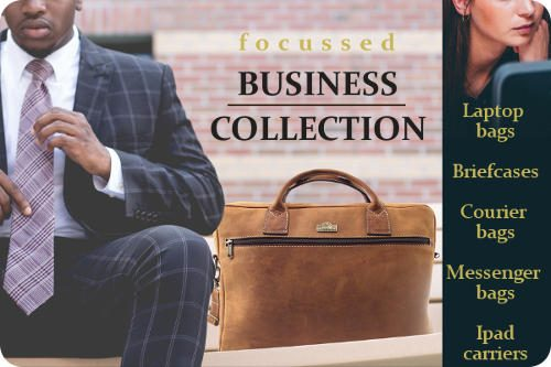 Genuine leather goods and specifically attaché cases for professional business people, which includes leather laptop bags for women and men - Der Lederhandler, George, Western Cape