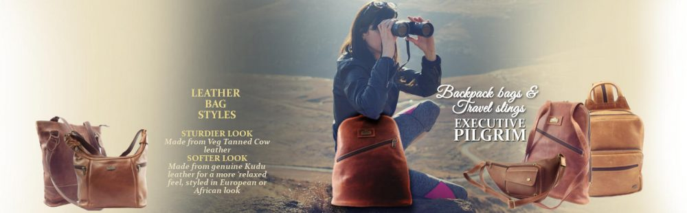 Leather bags and leather backpack bags by der Lederhandler, George and Mossel Bay, Western Cape