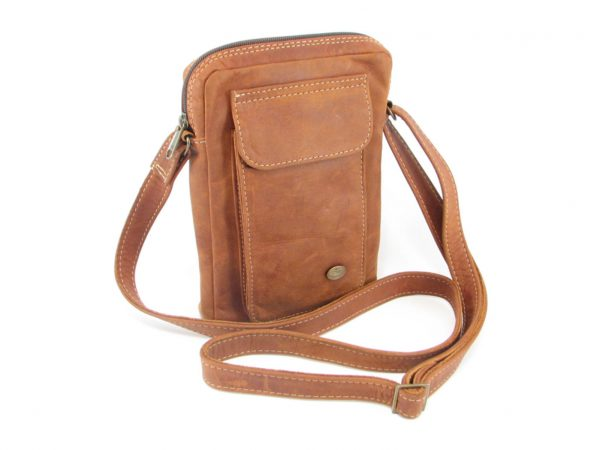 Charlie Sling Large HP7295 side leather wallet bags, Der Lederhandler, George, Western Cape