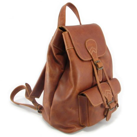 Hunters Rucksack HP7229 side leather backpack bags, Der Lederhandler, George, Western Cape