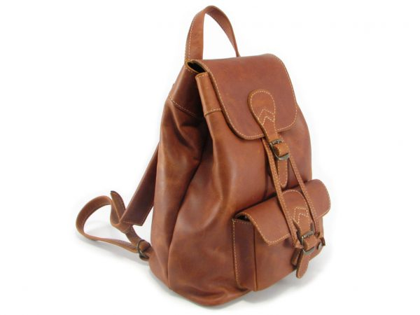 Hunters Rucksack HP7229 side leather backpack bags, Der Lederhandler, George, Western Cape