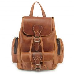 Hunters Rucksack No 2 HP7298 front leather backpack bags, Der Lederhandler, George, Western Cape