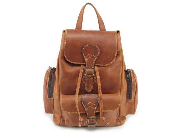 Hunters Rucksack No 2 HP7298 front leather backpack bags, Der Lederhandler, George, Western Cape