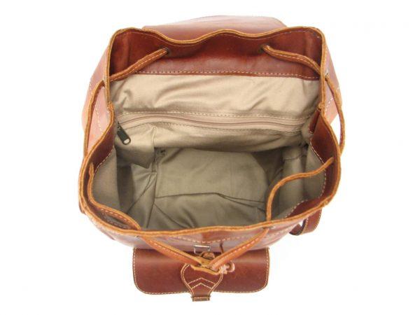 Hunters Rucksack No 2 HP7298 inside leather backpack bags, Der Lederhandler, George, Western Cape