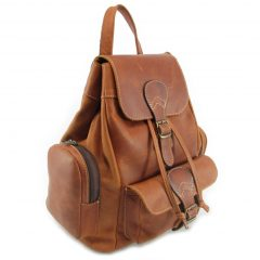 Hunters Rucksack No 2 HP7298 side leather backpack bags, Der Lederhandler, George, Western Cape