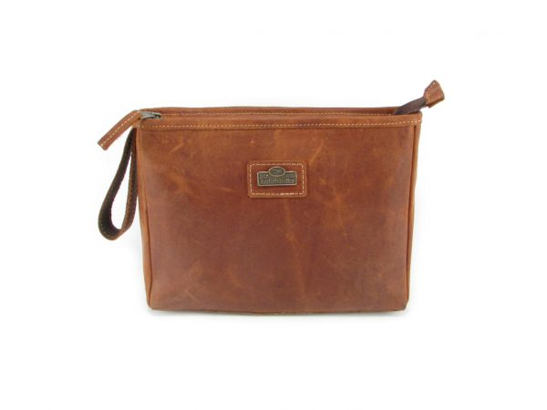 Toiletry Bag No 5 HP7299 front leather bags men, Der Lederhandler, George, Western Cape