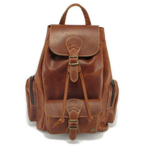Hunters Rucksack No 3 HP7305 front leather backpack bags, Der Lederhandler, George, Western Cape