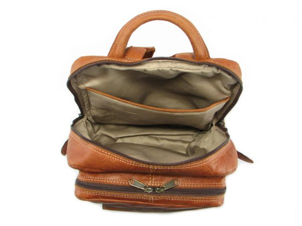 Benjamin Small HP7310 inside leather backpack bags, Der Lederhandler, George, Western Cape