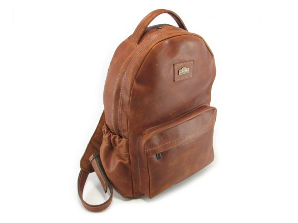 Multi Backpack Large HP7311 side leather backpack bags, Der Lederhandler, George, Western Cape