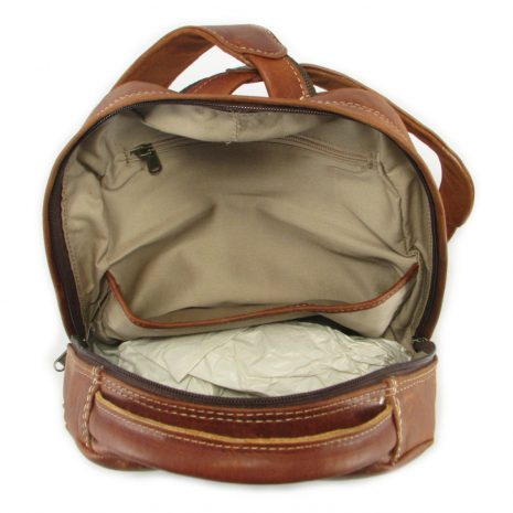 Multi Backpack Medium HP7312 inside leather backpack bags, Der Lederhandler, George, Western Cape
