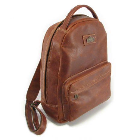 Multi Backpack Medium HP7312 side leather backpack bags, Der Lederhandler, George, Western Cape