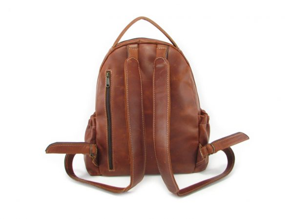 Multi Backpack Medium + Side Pockets HP7313 back leather backpack bags, Der Lederhandler, George, Western Cape