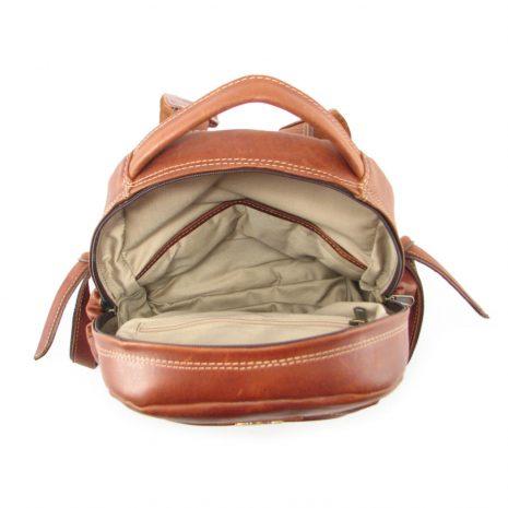 Multi Backpack Medium + Side Pockets HP7313 inside leather backpack bags, Der Lederhandler, George, Western Cape