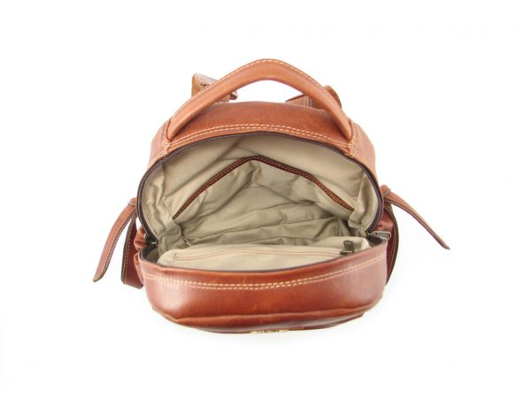 Multi Backpack Medium + Side Pockets HP7313 inside leather backpack bags, Der Lederhandler, George, Western Cape