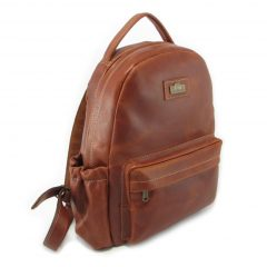Multi Backpack Medium + Side Pockets HP7313 side leather backpack bags, Der Lederhandler, George, Western Cape