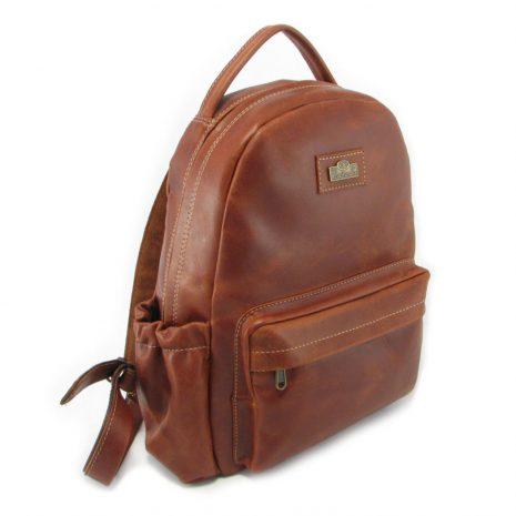 Multi Backpack Medium + Side Pockets HP7313 side leather backpack bags, Der Lederhandler, George, Western Cape