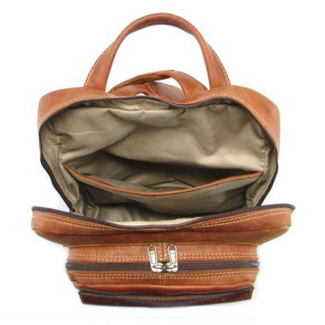 Benjamin Large HP7322 inside leather backpack bags, Der Lederhandler, George, Western Cape