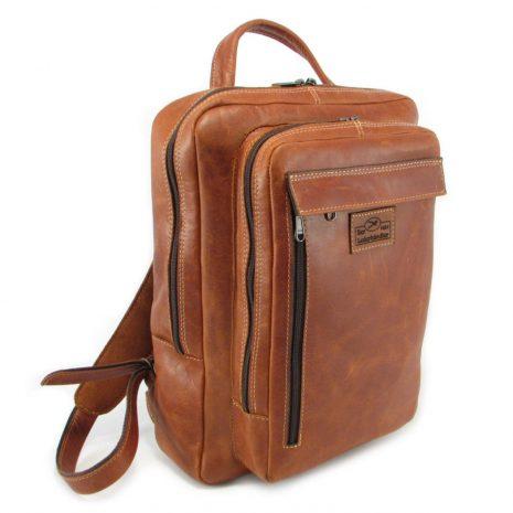 Benjamin Large HP7322 side leather backpack bags, Der Lederhandler, George, Western Cape