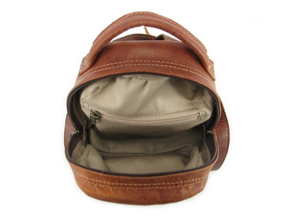 Multi Backpack Small HP7321 inside leather backpack bags, Der Lederhandler, George, Western Cape