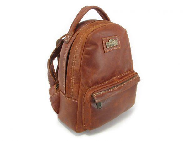 Multi Backpack Small HP7321 side leather backpack bags, Der Lederhandler, George, Western Cape