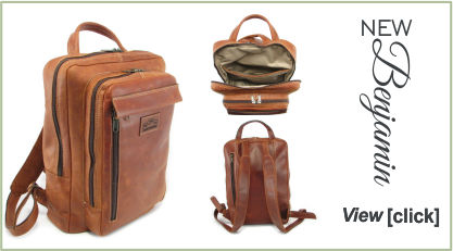 Benjamin, genuine leather laptop- and backpack bag - Der Lederhandler - George, Western Cape