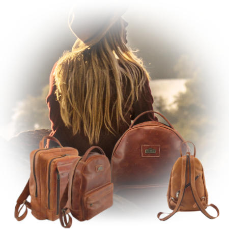 Genuine leather backpack bags as part of Der Lederhandler's online accessories - George, Western Cape