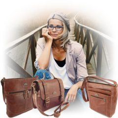 Genuine leather bags and specifically leather crossbody handbags by Der Lederhandler, George, Western Cape