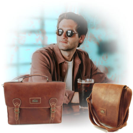 Genuine leather bags and specifically tech bags by Der Lederhandler, George, Western Cape