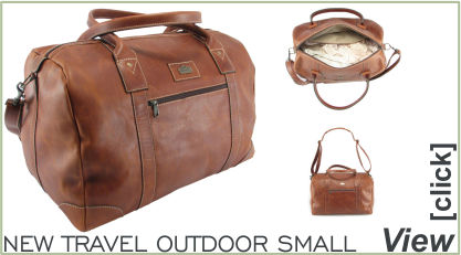 Travel outdoor full-grain leather travel bag by Der Lederhandler, George, Western Cape
