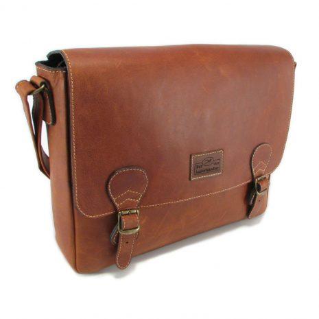 Reggie Large HP7327 side leather tech bags, Der Lederhandler, George, Western Cape