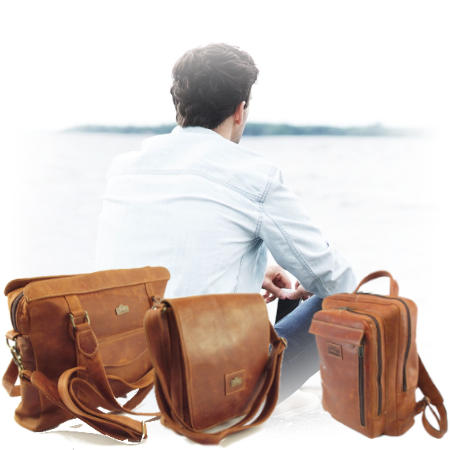 Leather bags for men that includes tech bags and wallet bags. Der Lederhandler, South Africa