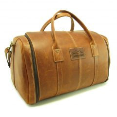 Travel Outdoor Deluxe HP7339 side leather travel bags, Der Lederhandler, George, Western Cape
