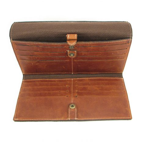 HPCW01 Cell Phone Wallet No 1 inside2 small leather pouches, Der Lederhandler, George, Western Cape