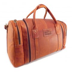 Travel Outdoor Master HP7353 side leather travel bags, Der Lederhandler, George, Western Cape